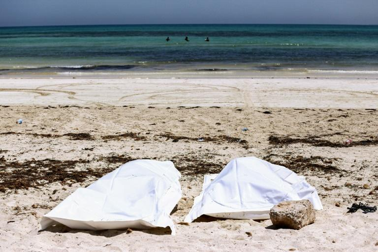Dozens of bodies of migrants -- like those retrieved on the island of Djerba last year -- are recovered from the sea off Tunisia every year, casualties of journeys toward Europe across the Mediterranean that ended in tragedy (AFP Photo/ANIS MILI)