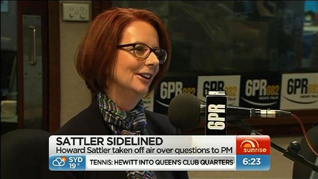 Sattler suspended for gay jibe at PM