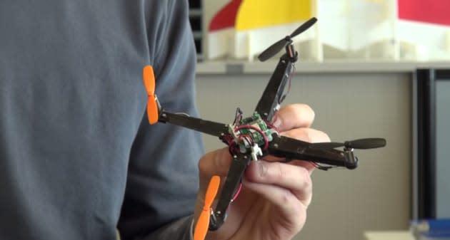 Tiny palm-top UAV folds itself up like an origami quadcopter