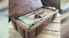 Man makes DIY 'ultimate wilderness wedding survival kit' boxes for his groomsmen