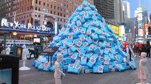 Müsliriegel-Hersteller platziert Zuckerberg auf Times Square