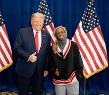 Lil Wayne gives thumbs up alongside Trump in photo of support after discussing plan for Black Americans