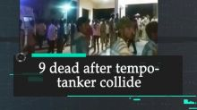 9 dead after tempo- tanker collide