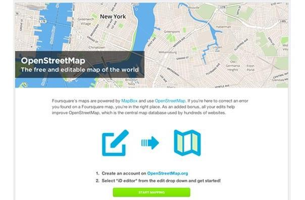 Foursquare gives Superusers web links to map editing tools