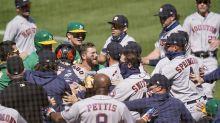 Astros-A's brawl: Alex Cintrón gets 20-game suspension, Ramón Laureano gets six games
