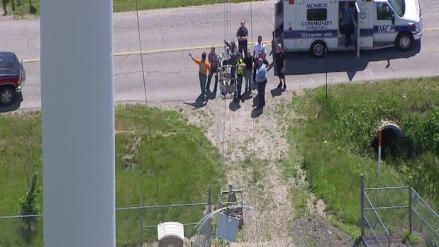 Man rescued from water tower