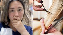 'It sucked': TikToker's shocking hairdresser fail