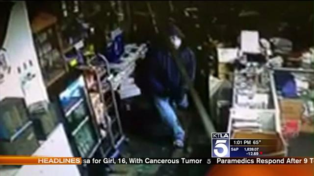 Violent Robbery at Lawnmower Repair Shop Caught on Video