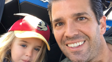 Donald Trump Jr. is being dad-shamed because his 3-year-old daughter isn't wearing a top