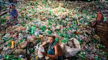 Incredible images from inside country's recycling crisis