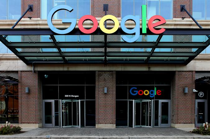 CHICAGO - FEBRUARY 02:  Google Chicago Headquarters in Fulton Market in Chicago, Illinois on February 2, 2020.  (Photo By Raymond Boyd/Getty Images)