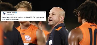 Crows' bizarre stuff-up in coach announcement