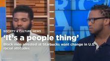 Black men arrested at Starbucks hope scandal sparks change