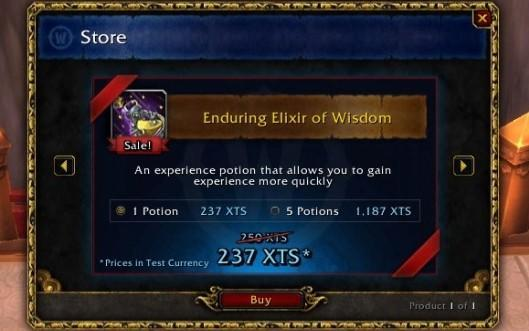 See World of Warcraft's item store in action