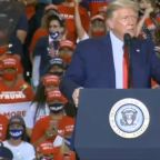 President Trump and Democratic nominee Joe Biden take part in two very different campaign events
