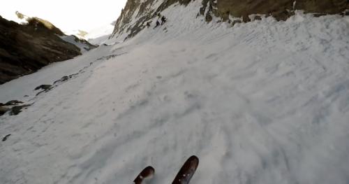 Ski - Grosses sensations de pente raide dans le couloir Nord des Dames Anglaises