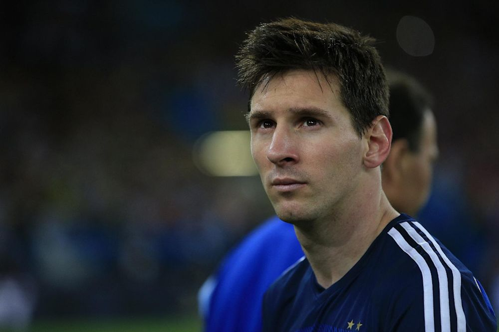 Argentina's forward and captain Lionel Messi looks on after his team's defeat in the final football match between Germany and Argentina for the FIFA World Cup at The Maracana Stadium in Rio de Janeiro on July 13, 2014