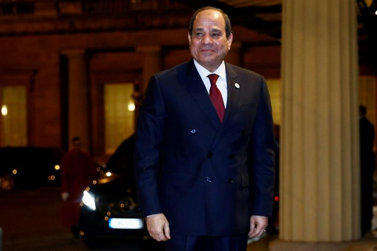 The new law is expected to make it almost impossible for military personnel to run in any election, in effect preventing anyone from squaring off against Egypt's President Abdel Fattah al-Sisi (pictured January 2020)