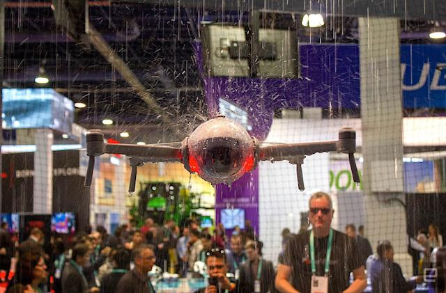 The PowerEgg X drone doubles as a handheld camera
