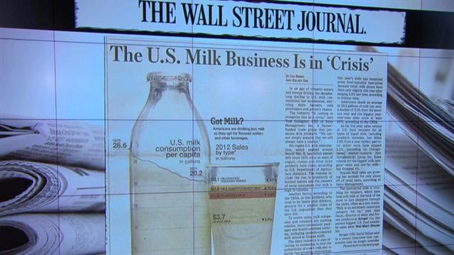 Milk industry concerned over drop in consumption