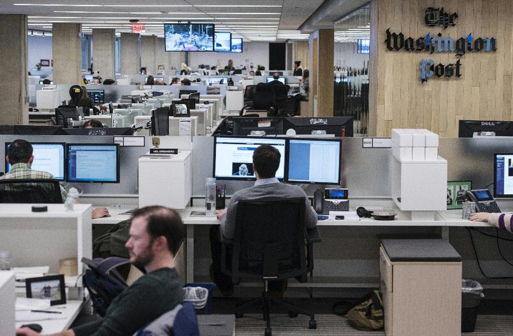The Washington Post has enjoyed a surge in subscriptions and clicks since the election of Donald Trump (AFP Photo/Mandel Ngan)