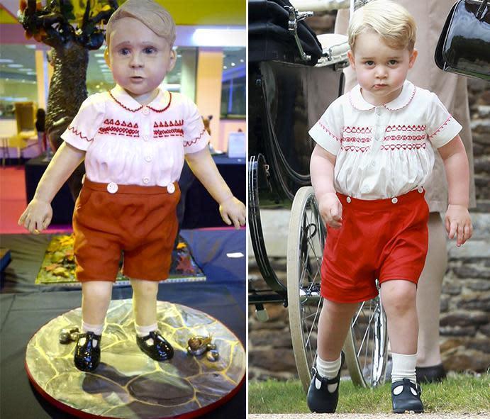 This Cake Looks Just Like Prince George and It\u0027s Creepy Cute