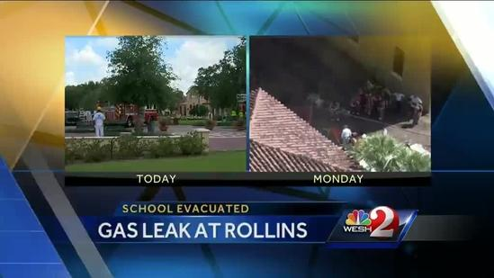 Rollins College evacuated over gas leak