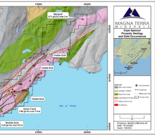 Magna Terra Intersects 8.80 g/t Gold Over 0.5 metres at the Emilio Trend, Cape Spencer Project