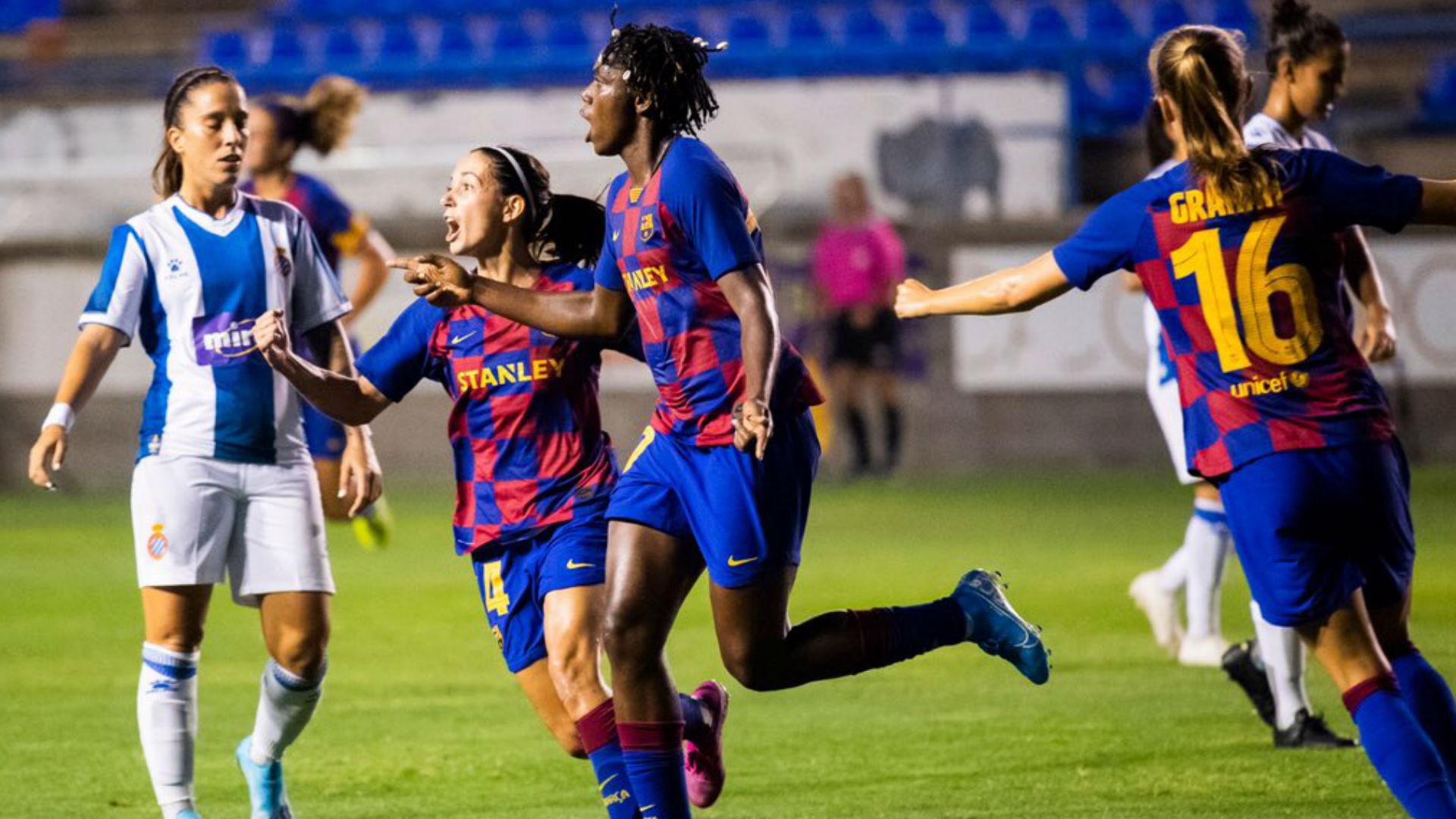 Image result for Oshoala scores to lift first Silverware with Barcelona