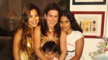 Zilu posta foto antiga com os filhos e se declara: 'Eu amo vocês'