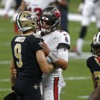 Drew Brees looks to continue dominance over Tom Brady in Saints-Bucs playoff game on Yahoo Sports app