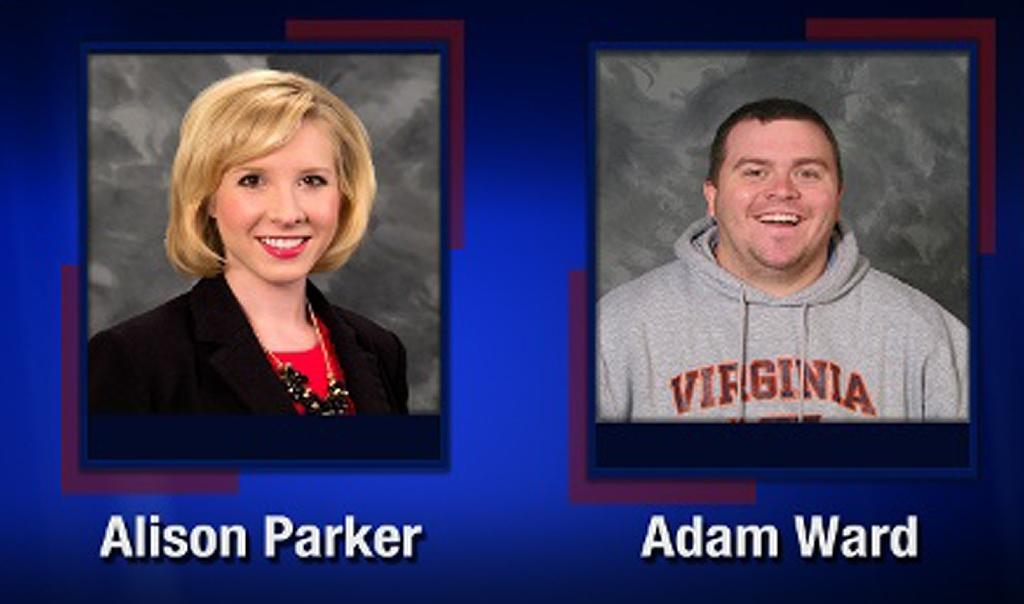 This TV video frame grab courtesy of WDBJ7-TV in Roanoke, Virginia shows WDBJ7 employees Allison Parker and Adam Ward who were killed in an attack at Bridgewater Plaza in Moneta, Virginia on August 26, 2015 (AFP Photo/)