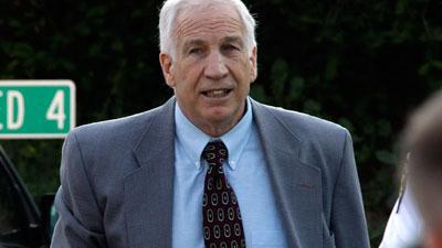 Raw Video: Sandusky arrives as trial winds down