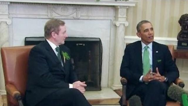 Obama Welcomes Irish PM for Patrick's Day Visit