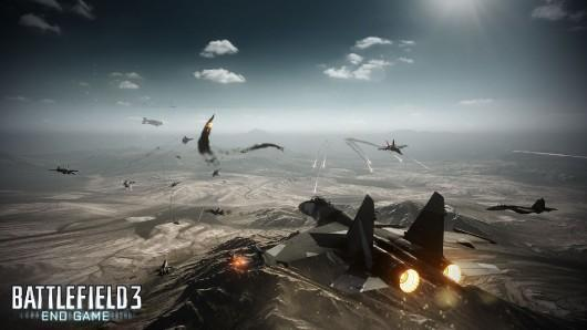 Sniping in Battlefield 3: End Game using a helicopter
