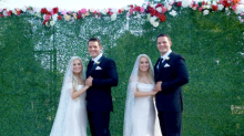 Identical twin sisters marry identical twin brothers in joint ceremony — and they're not the first