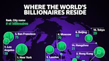 The 15 cities with the most billionaires