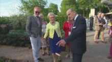 Queen and Prince Philip tour Chelsea Flower Show