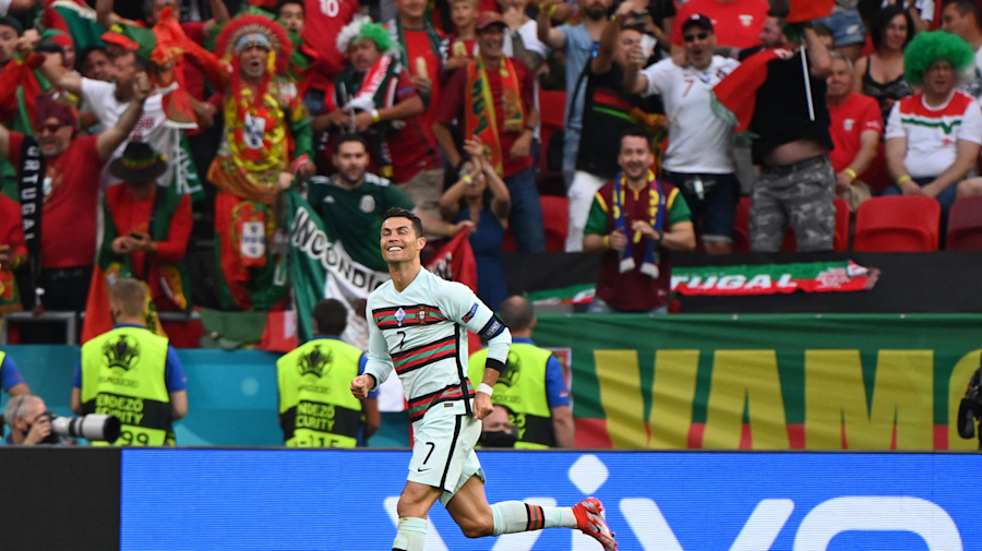Ronaldo makes history as Portugal beats Hungary
