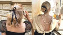 隨性浪漫又有格調!中長髮女生可以參考這位克羅地亞女生的頭髮造型!