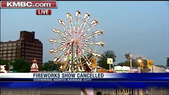 Hot, dry weather gets fireworks shows scrapped
