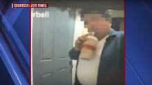 Customer catches deliveryman sipping his milkshake on video: 'I felt really disgusted'