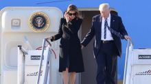 Does Melania Trump really not want to hold her husband's hand?