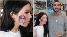 Aussie singer goes viral after getting a tattoo of Harry Styles on her face
