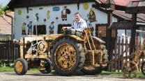 Man Builds Tractor From Pine Wood