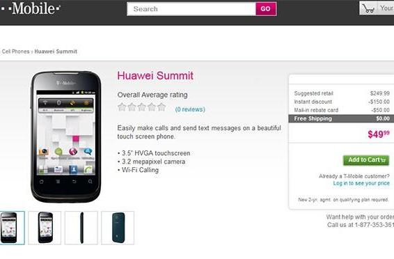 Huawei Summit hits T-Mobile for $50 sporting faux-Android duds