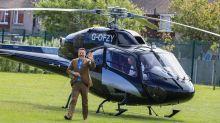 David Walliams arrives by helicopter at school of BGT's singing schoolchildren