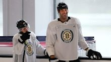 Chara, Krug hoping NHL futures find them back with Bruins