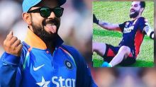 IPL 2020: Virat kohli shows some great dance moves on ground before the match against KXIP
