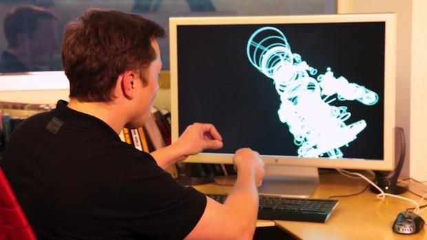 Elon Musk shows off Iron Man-style rocket design with gestures and 3D printing (video)
